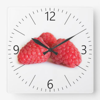 Raspberry Square Wall Clock