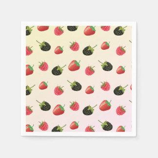 Raspberry, Strawberry, Blackberry: summer fruit Disposable Napkin