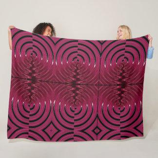 Raspberry swirl fleece blanket