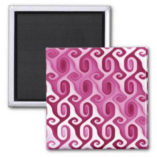 Raspberry Swirl Square Magnet