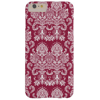 Raspberry Victorian Damask Barely There iPhone 6 Plus Case