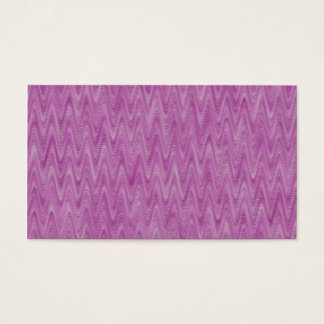 Raspberry Zigzag - Pink Abstract Pattern Business Card