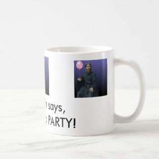 rasputin-anim, Rasputin says,It's time to PARTY! Classic White Coffee Mug
