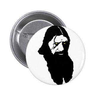 Rasputin--Black 2 Inch Round Button