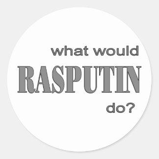 Rasputin Round Sticker