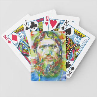 RASPUTIN - watercolor portrait.1 Bicycle Playing Cards
