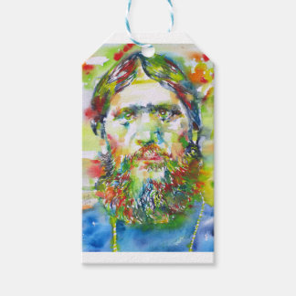 RASPUTIN - watercolor portrait.1 Gift Tags