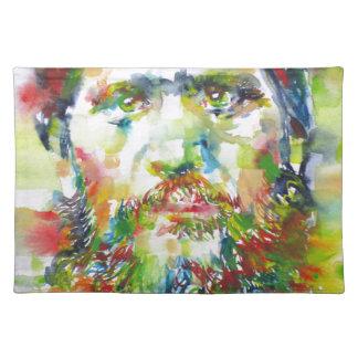 RASPUTIN - watercolor portrait.1 Placemat