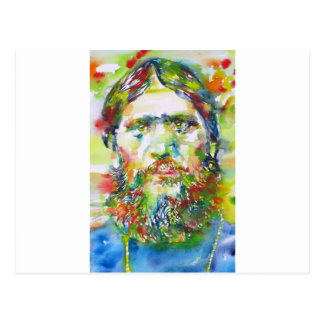 RASPUTIN - watercolor portrait.1 Postcard