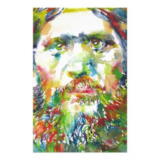 RASPUTIN - watercolor portrait.1 Stationery