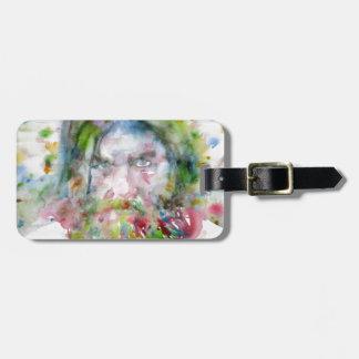 RASPUTIN - watercolor portrait.3 Luggage Tag