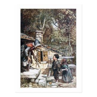 Rassemblement de Hansel et de Grethel la sorcière Cartes Postales