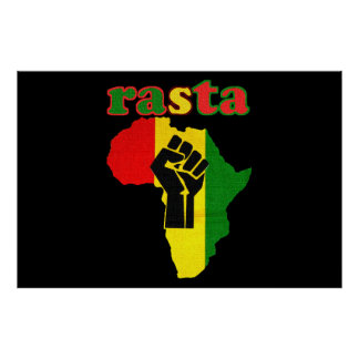Rasta Africa and Black Power Canvas Print 48 by 32