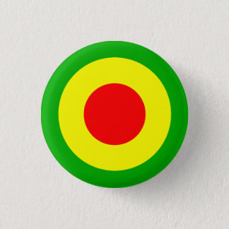 Rasta Air Force 1 Inch Round Button