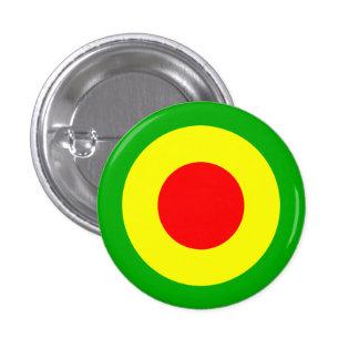Rasta Air Force 1 Inch Round Button