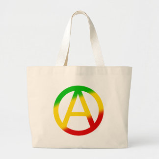 Rasta Anarchy Symbol Large Tote Bag