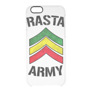 Rasta army clear iPhone 6/6S case