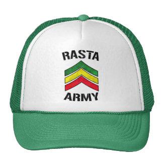 Rasta army trucker hat