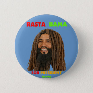 Rasta Bama, President Obama in Dreadlocks 2 Inch Round Button