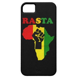 Rasta Black Power Fist over Africa iPhone 5 Case