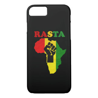 Rasta Black Power Fist over Africa iPhone 7 case