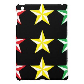 Rasta & Black Stars iPad Mini Cover