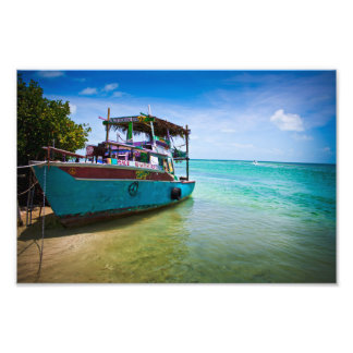 Rasta Boat Photo Print