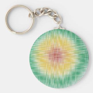 Rasta Bullseye Lines Keychain