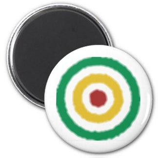 Rasta Bullseye Magnet