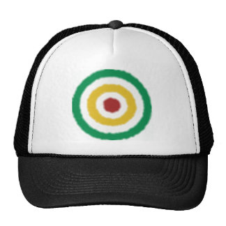 Rasta Bullseye Trucker Hat