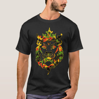 Rasta Camo Lion Dark T-Shirt