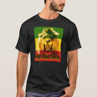 Rasta Chant Down Babylon Lion T-shirt
