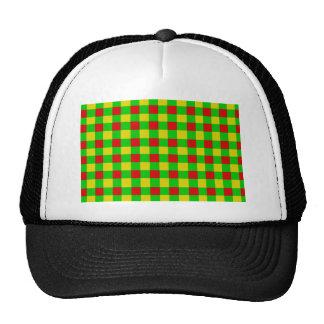 Rasta Check Trucker Hat