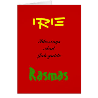 Rasta christmas Greeting cards