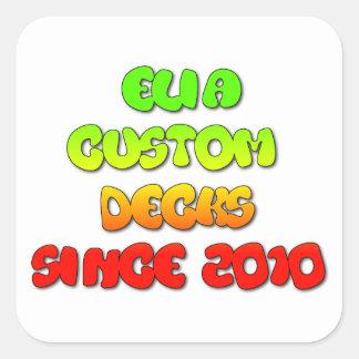 rasta clear logo sticker