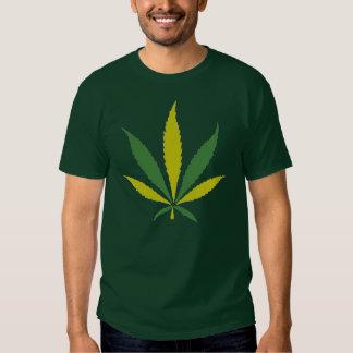 Rasta Color Skull Leaf Relief T-shirts