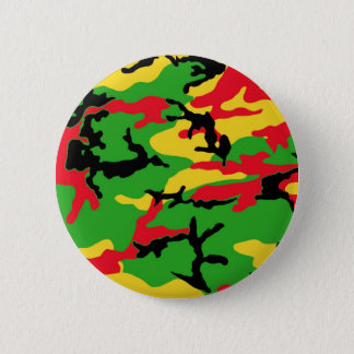 Rasta Colored Camouflage 2 Inch Round Button