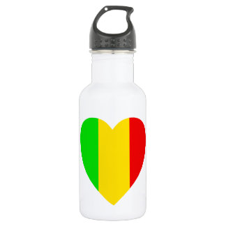 Rasta Colored Heart 532 Ml Water Bottle