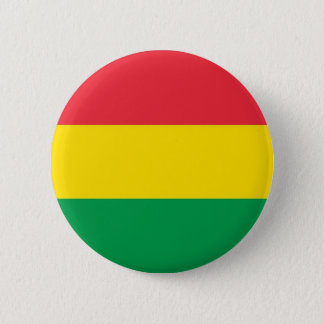 Rasta Colors Green Yellow Red Stripes Flag Pattern 2 Inch Round Button