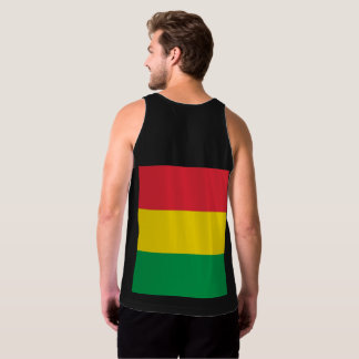 Rasta Colors Green Yellow Red Stripes Flag Pattern Tank Top