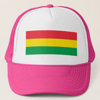 Rasta Colors Green Yellow Red Stripes Flag Pattern Trucker Hat