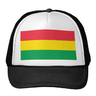 Rasta Colors Green Yellow Red Stripes Flag Pattern Trucker Hat