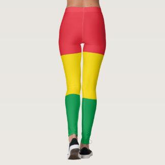 Rasta Colors Green Yellow Red Stripes Pattern Leggings