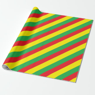 Rasta colors wrapping paper