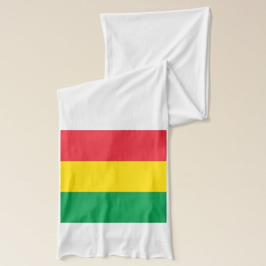 Rasta Colours Green Yellow Red Flag Stripes Scarf