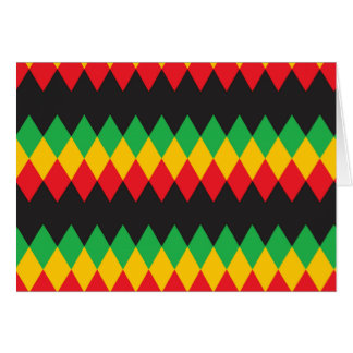 Rasta Diamond Pattern Greeting Cards