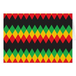 Rasta Diamond Pattern Note Card