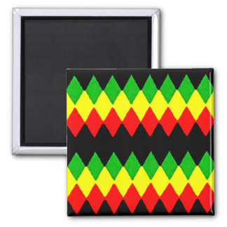 Rasta Diamonds. Red Gold and Green. Jah Rastafari Magnet
