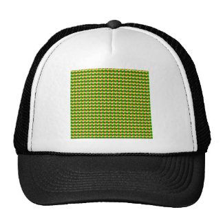 Rasta Dots on White Trucker Hat
