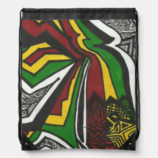 Rasta drawstring backpack